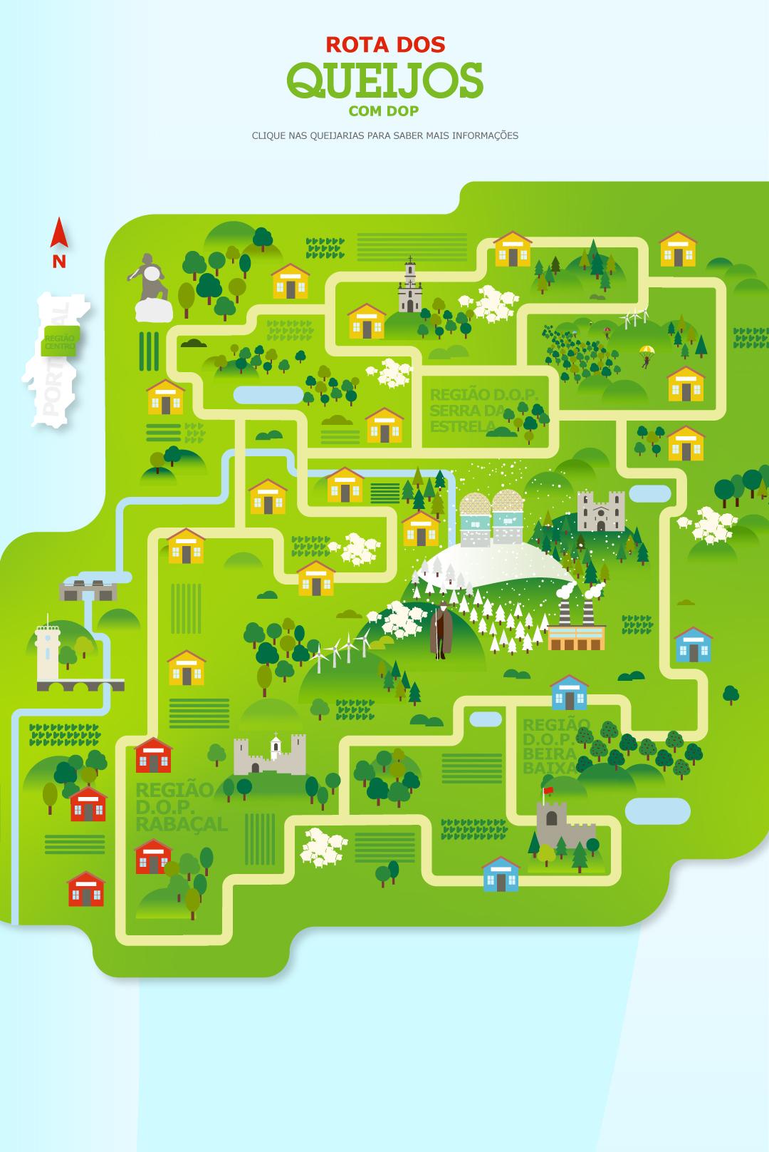 casas-montes-serra-torre-ilustração-região-centro-portugal-queijarias-caminho-rota